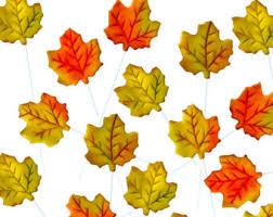 maple leaf lollipops etsy