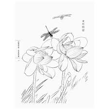 aliexpress com buy chinese line drawing grass and insect