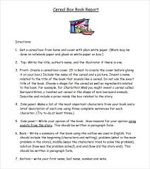 white paper report template sle cereal box book report 8 documents in pdf word