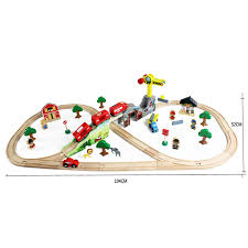 Making Wooden Toy Train Tracks by 70pcs Lot Kids Educational Vehicle Toys Diy Wooden Tomas Railway