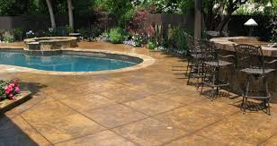 Concrete Patio Color Ideas by Patio Creative Pool Stamped Concrete Patio Room Design Plan