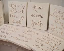 1 corinthians 13 wedding is patient is rustic wedding decor
