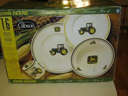 deere kitchen canisters gibson 16 heavy deere stoneware dinnerware set new in