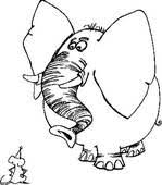 clipart elephant mouse coloring book k5954725