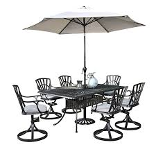 Patio Dining Set Swivel Chairs - home styles 5560 3756c largo rectangular dining table and 6 swivel