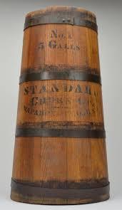 standard churn company primitive wood butter churn five gallon
