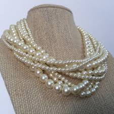 pearl necklace costume images Vintage pearls necklace images jpg