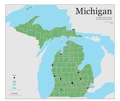A Map Of Michigan by Cartographic Design