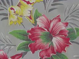 tropical beach cottage florida bungalow vtg barkcloth era fabric