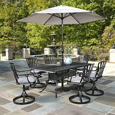 Patio Dining Set With Umbrella Home Styles Largo 7 Outdoor Patio Dining Set With Umbrella