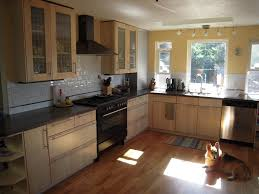 simple birch kitchen cabinets on small home remodel ideas with