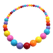 color bead necklace images 2018 children round necklace plastic color bead necklace jewelry jpg