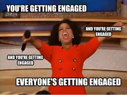 Engagement Meme - congratulations lessons learned from my fake engagement
