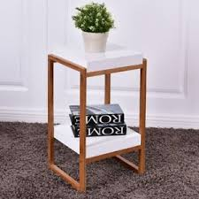 home retro nightstand bedside square table accent table w storage