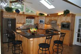 Wood Island Kitchen by Kitchen Island With Bar Seating Alder Cabinets Beautiful Black
