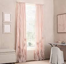 Petal Pink Curtains Butterfly Print Curtain Panel