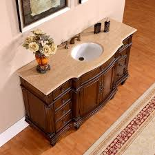 cutting countertop for sink silkroad 60 inch vintage single sink bathroom vanity roman vein cut