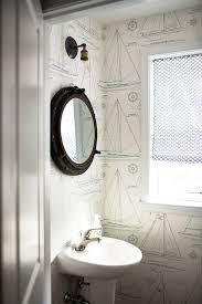 nautical mirror bathroom bahtroom creative wallpaper design and simple window plus amusing