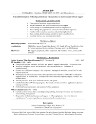 Sample Computer Technology Resume Help Desk Technician Resume Resume For Your Job Application