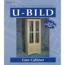 shop u bild gun cabinet woodworking plan at lowes com