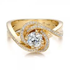gold diamond engagement rings custom yellow gold and diamond engagement ring bellevue in italy