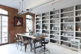 Open Cabinet Kitchen Ideas Kitchen Style Modern Industrial Kitchen Design Brick Wall