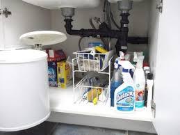 Under Kitchen Sink Cabinet How To Declutter Under Your Kitchen Sink Cabinet