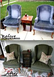 How To Remove Paint From Upholstery Little House In The Big D Painting Furniture Fabric Yep
