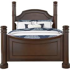 Four Poster Bedroom Sets Dumont Cherry 5 Pc King Low Poster Bedroom Bedroom Sets Dark Wood