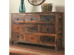 Rustic Cabinets Coaster Accent Cabinets 9 Drawer Rustic Cabinet Prime Brothers
