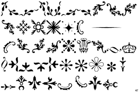 identifont rococo ornaments two on we it