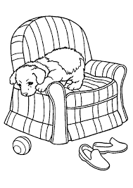 pup slipcover sofa chair coloring animal images