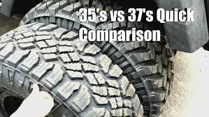compare jeep wranglers 35s vs 37s comparison jeep wrangler
