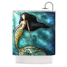 Kess Shower Curtains Kess Inhouse Mermaid Shower Curtain Reviews Wayfair