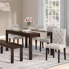 Dining Room Table Bench Bench Kitchen Dining Room Sets You Ll Wayfair