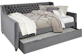 alena charcoal 3 pc full daybed with trundle trundle beds gray