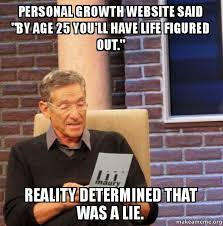 Make A Meme Website - personal growth website said by age 25 you ll have life figured