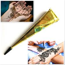 1pc black henna tattoo paste cones temporary indian mehndi henna