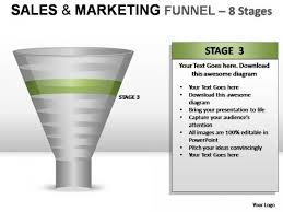 and marketing funnel 8 stages powerpoint presentation slides