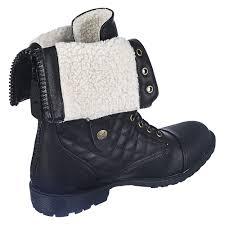 s fold combat boots size 12 s fold fur combat boot 1075 13 black shiekh shoes