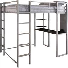 Full Size Metal Loft Bed With Desk by Bedroom Dhp Abode Silver Full Size Loft Bed With Black Desk And