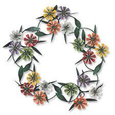 metal wreaths wall decor zinnia wreath orvis