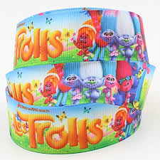 2m x 22mm trolls grosgrain ribbon for birthday cake u0027s wedding