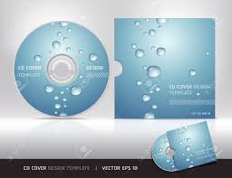 cd cover design with water drop vector illustration illustration