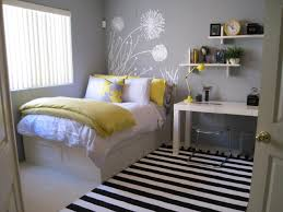 Small Space Bedroom Nice Guest Bedroom Design With Stripes Rugs And Wall Decor Guest