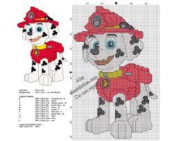 Free Cross Stitch Christmas Ornament Patterns Marshall Paw Patrol Free Small Cross Stitch Pattern 57 X 90