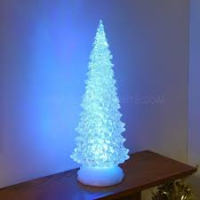 32cm colour changing battery water effect christmas tree