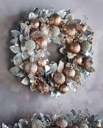 pre lit wreath blush pewter collection pre lit wreath