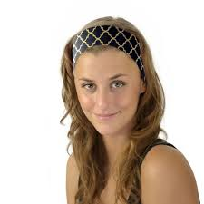 hair accessories for women gold black soft fabric headband fashion wrap hair
