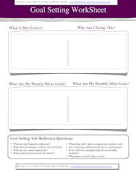Smart Goals Worksheet For Kids 7 Best Images Of Business Goal Setting Worksheet Goal Setting